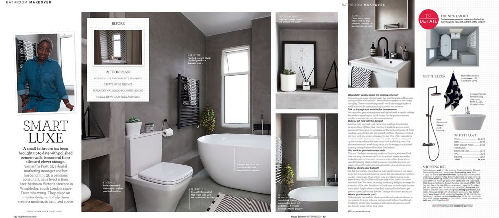 Bathroom makeover pages in House Beautiful