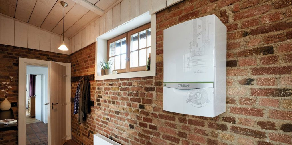 Vaillant boiler on the wall in a home