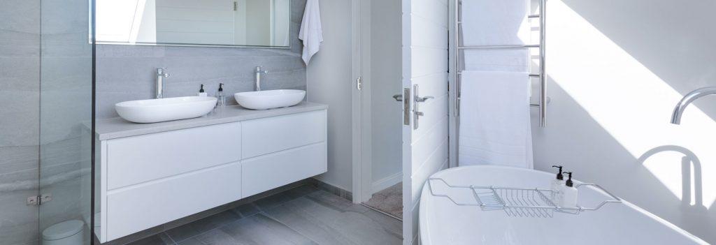 modern white bathroom suite